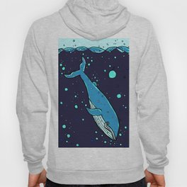 Downward Whale Hoody