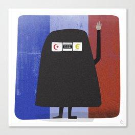 Burqa Ban - Luck be a Lady Tonight Canvas Print