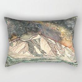 Mount Sopris and the Galaxy Rectangular Pillow