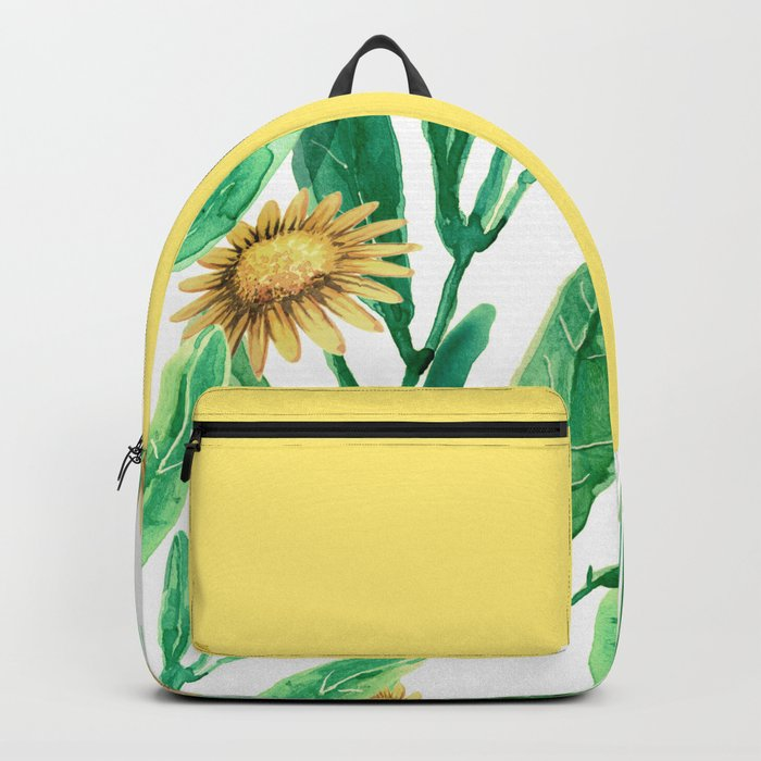 yellow flowers on sunny day Backpack