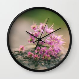 Purple Mornings Wall Clock
