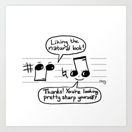 Musical Compliments Art Print