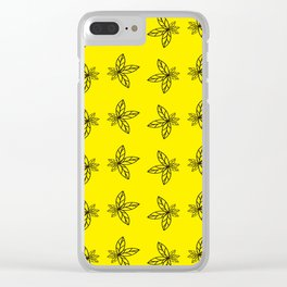 Nature Abstract Yellow Pattern Clear iPhone Case