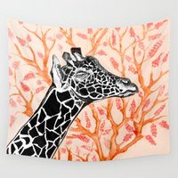 animals Wall Tapestries featuring animals by Hanan Azran