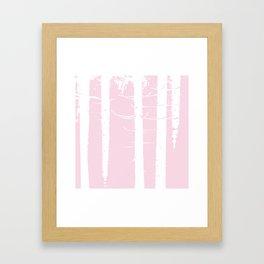 Pink Forest Pattern Framed Art Print