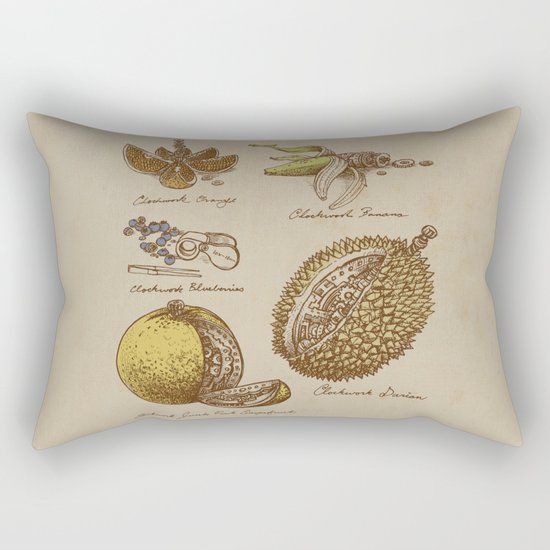Steampunk Fruit  Rectangular Pillow