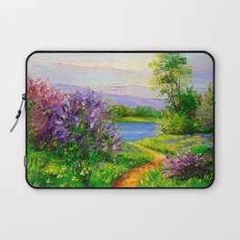 Lilac bloom on the river Laptop Sleeve