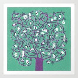 Mesh - tree Art Print