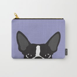 Boston Terrier Violet Carry-All Pouch