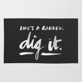 Dig It – White on Black Rug