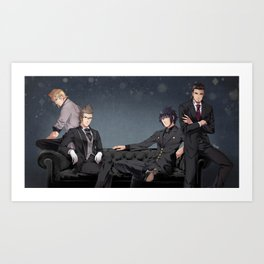 Suits and Ties Art Print