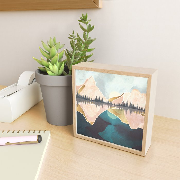 Summer Reflection Framed Mini Art Print