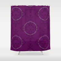 font Shower Curtains featuring Font Pattern by ekeegan
