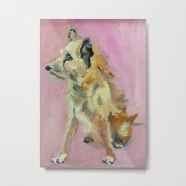 Marvelous Mystery Mutt Dog Portrait Metal Print