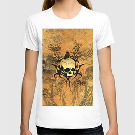 Awesome skul and crow T-shirt