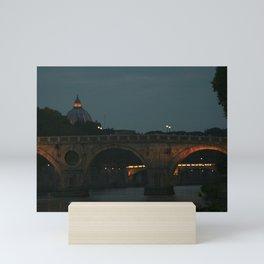Bridges of Rome in the Evening Mini Art Print