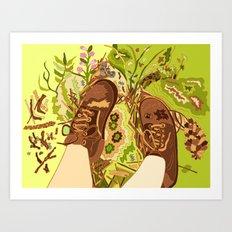 Hiking Break Art Print