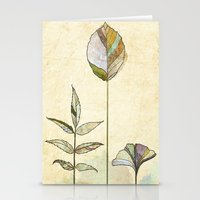 study Stationery Cards featuring Leaf Study by Rachael Shankman