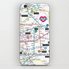Love Map iPhone Skin