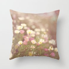 Dreaming of Flowers Throw Pillow