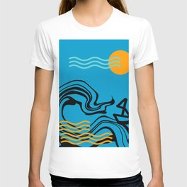 Boat and ocean T-shirt
