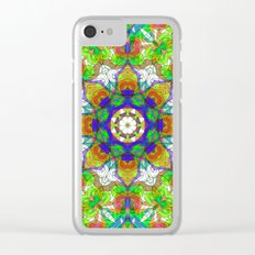 Drawing Floral Doodle G222 Clear iPhone Case