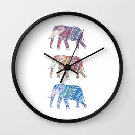 Three Elephants Part II Wall Clock
