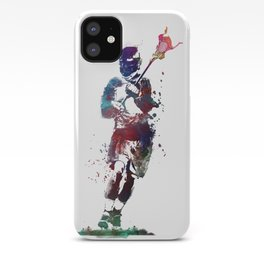 Lacrosse player art 2 iPhone Case