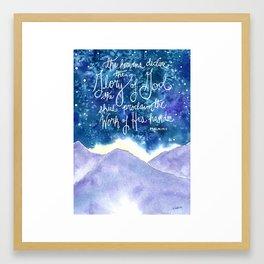 The Heavens Declare Framed Art Print