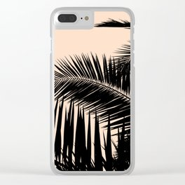 Palms on Pale Pink Clear iPhone Case