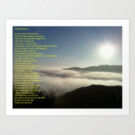 Mountain Poem Art Print