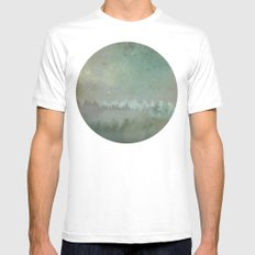 Planet 410110 White MEDIUM Mens Fitted Tee
