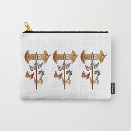 Double Headed Axe Labrys & Butterflies - Transformation Carry-All Pouch