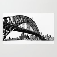 sydney Area & Throw Rugs featuring sydney by Jette Geis