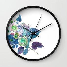 Bouquet in Blue Wall Clock