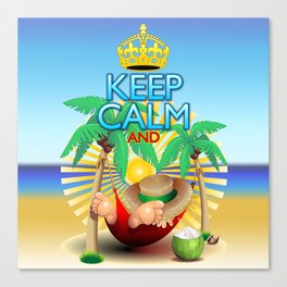 Keep Calm and...Relax on Hammock! Canvas Print