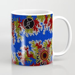 Authentic Aboriginal Art - Waterholes Corela Coffee Mug