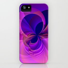 Abstract Infinity in Blue and Purple iPhone Case