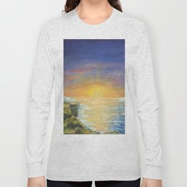 Gozo island, Malta. Malta sunset seascape Long Sleeve T-shirt