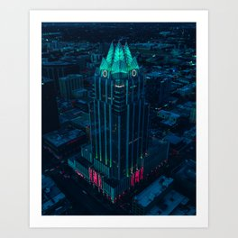 Frost Bank Tower from above Art Print