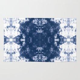 Shibori Tie Dye 2 Indigo Blue Rug