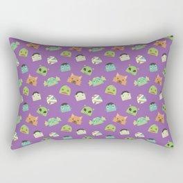 Halloween Monster Head Pattern Rectangular Pillow