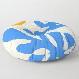 Henri Matisse - Leaves - Blue Floor Pillow