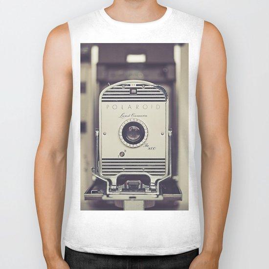 Vintage Polaroid Land Camera The 800 Biker Tank