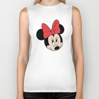 minnie mouse Biker Tanks featuring So cute Minnie Mouse by Yuliya L