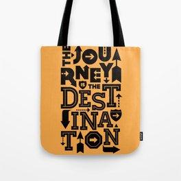 Orange Journey Quote Tote Bag