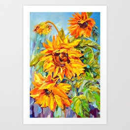Sunflowers # 4 Art Print