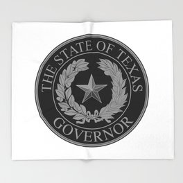 Texas State Governor Seal Throw Blanket
