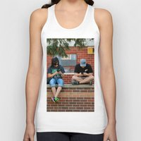 text Tank Tops featuring Text Chat by IowaShots