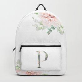 P - Floral Monogram Collection Backpack